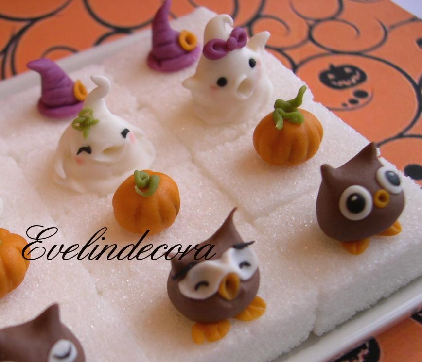 zollette decorate con pasta di zucchero halloween Evelindecora