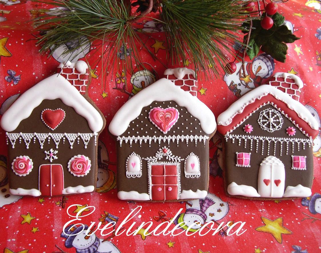 Casetta Di Natale Di Cioccolato : Biscotti natale al cacao decorati con ghiaccia reale