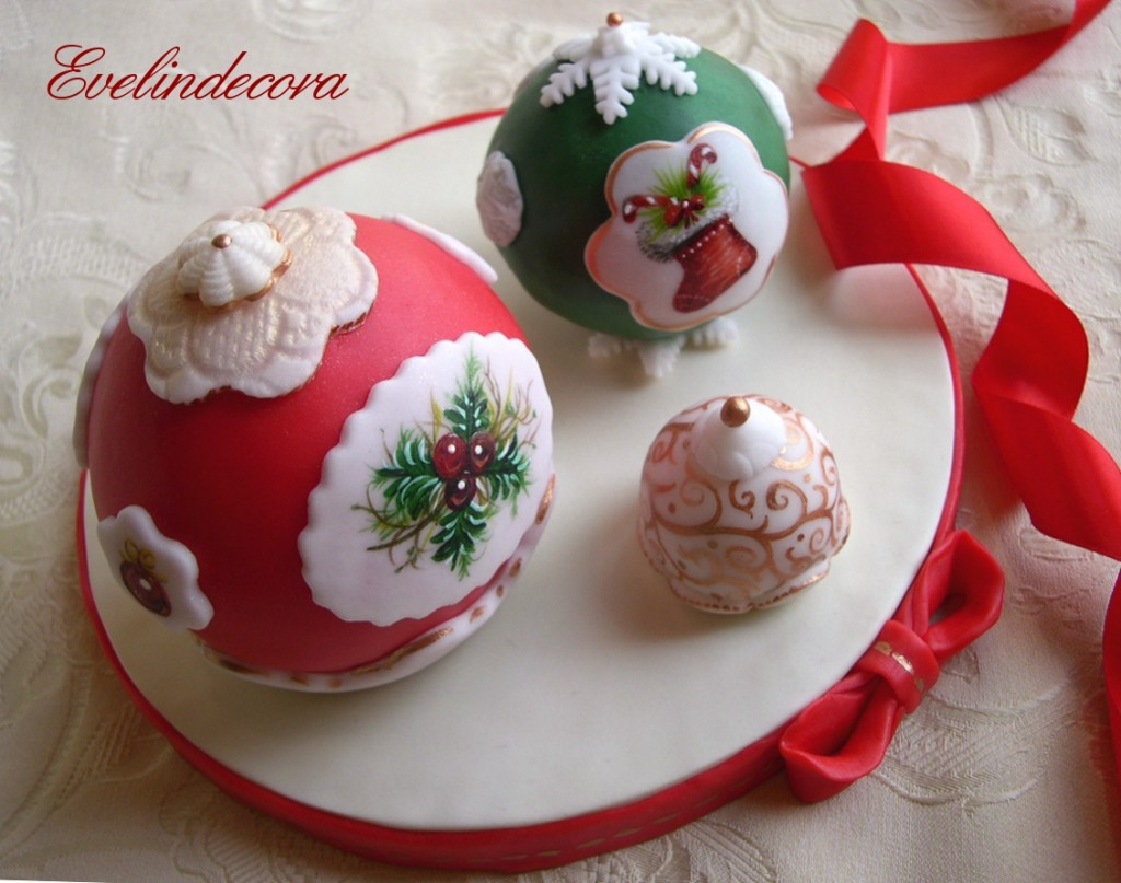 torte decorate natalizie Evelindecora