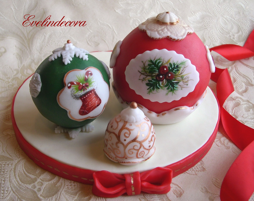 Torte decorate natalizie cake pops dipinti evelindecora - Torte natalizie decorate ...