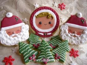 ricetta facile biscotti natalizi Evelindecora - biscotti in pasta sucre' decorati con ghiaccia reale