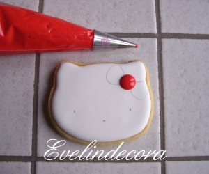 Biscotti hello kitty tutorial  Evelindecora