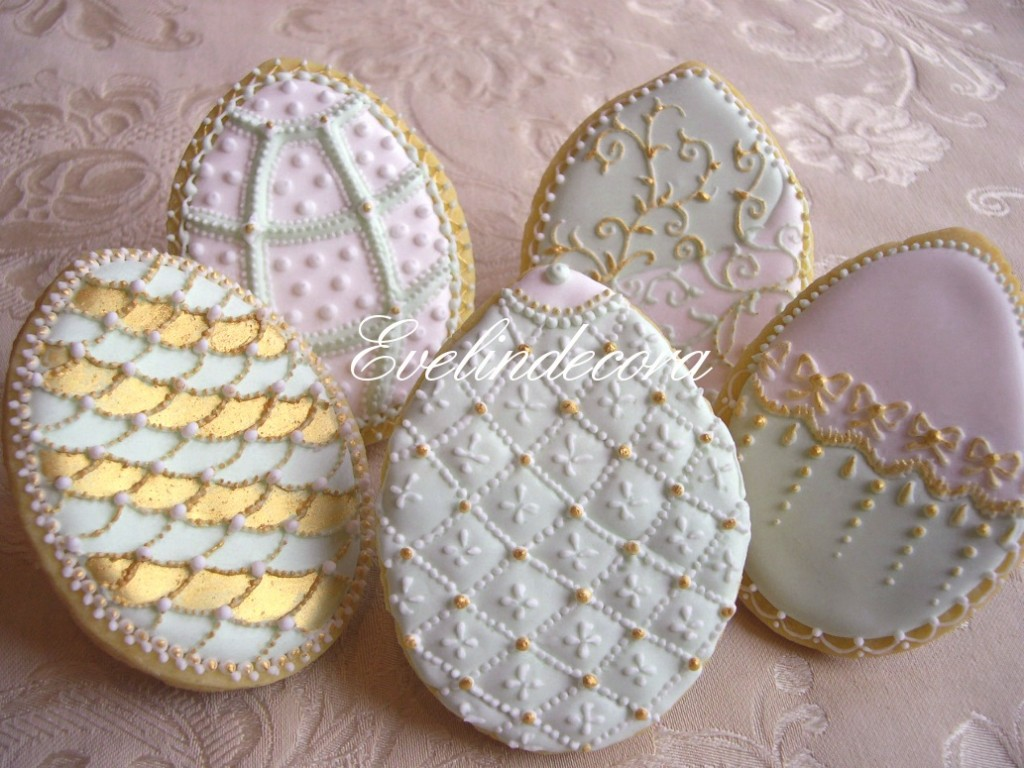 biscotti ghiaccia reale - Evelindecora - Biscotti in stile Fabergè decorati con ghiaccia reale