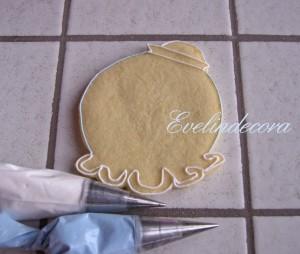Biscotti miele cannella ghiaccia reale tutorial Evelindecora