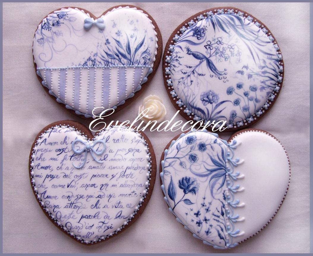 corsi ghiaccia reale 2015 - biscotti ghiaccia reale dipinti a mano - Evelindecora