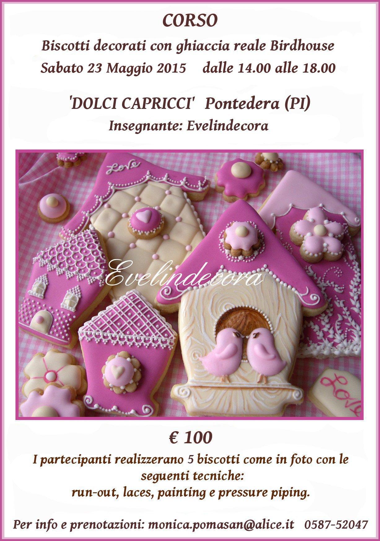 corso ghiaccia reale biscotti decorati Evelindecora
