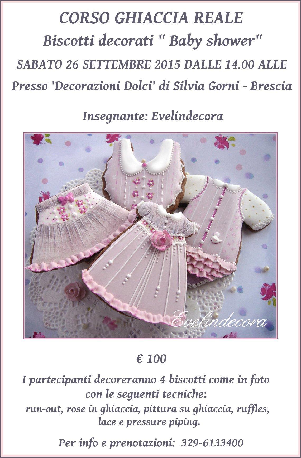 corso ghiaccia reale biscotti decorati Evelindecora Milano