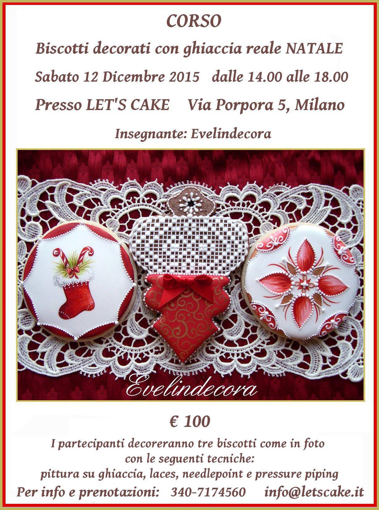 Natale biscotti decorati ghiaccia reale natale Ev elindecora Milano corso ghiaccia reale