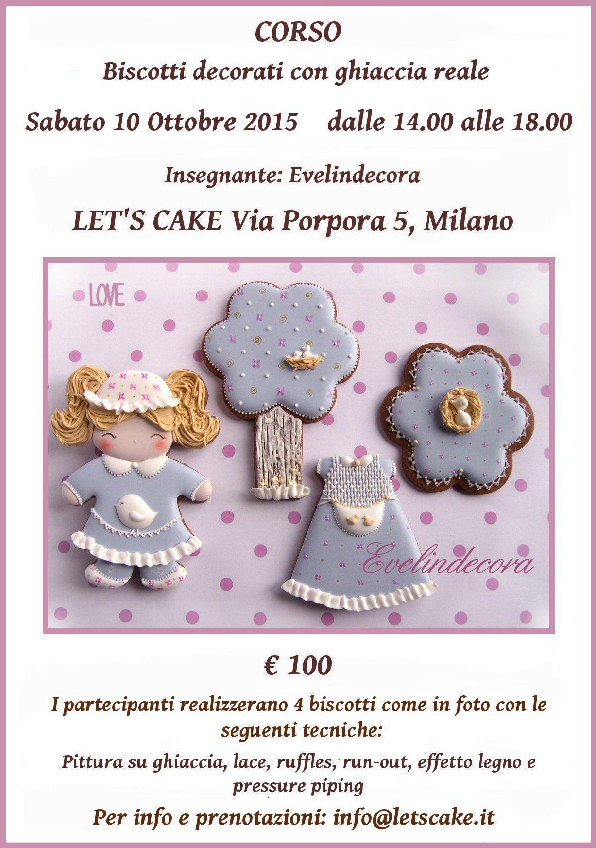biscotti decorati ghiaccia reale Evelindecora corso cake design MIlano