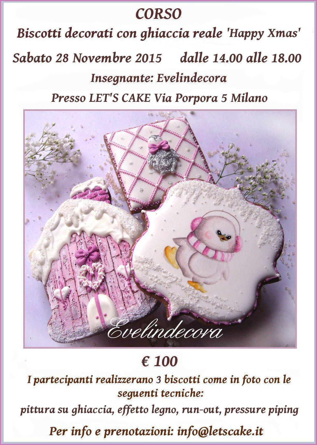 corso ghiaccia reale biscotti decorati natale Evelindecora
