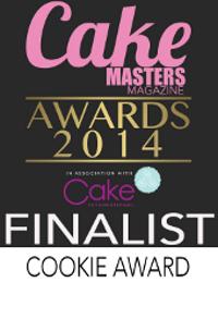 Evelindecora cake masters award finalist badge piccola