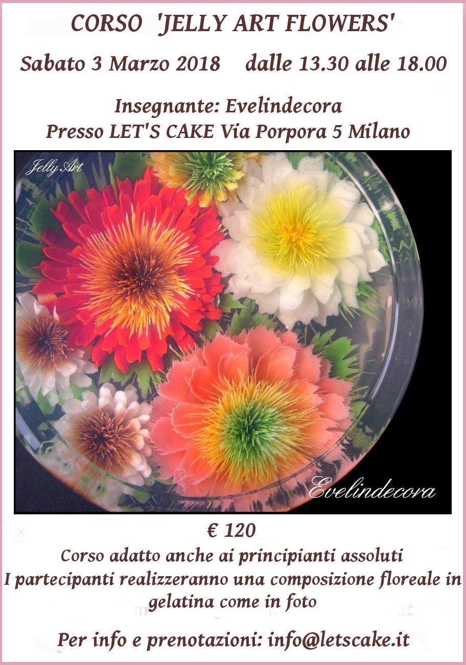 Corso jelly art Evelindecora fiori in gelatina