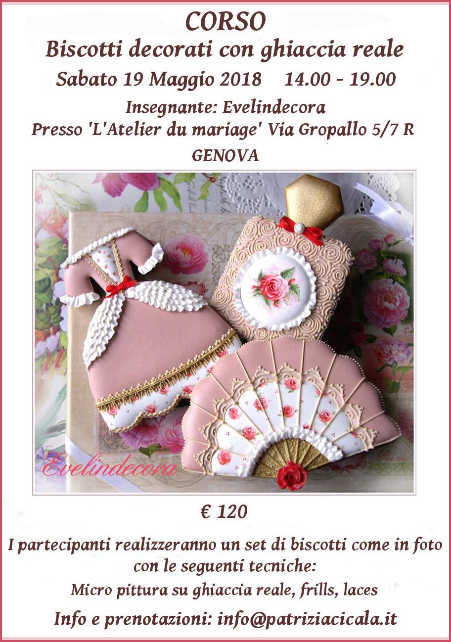 biscotti decorati ghiaccia reale Genova Evelindecora