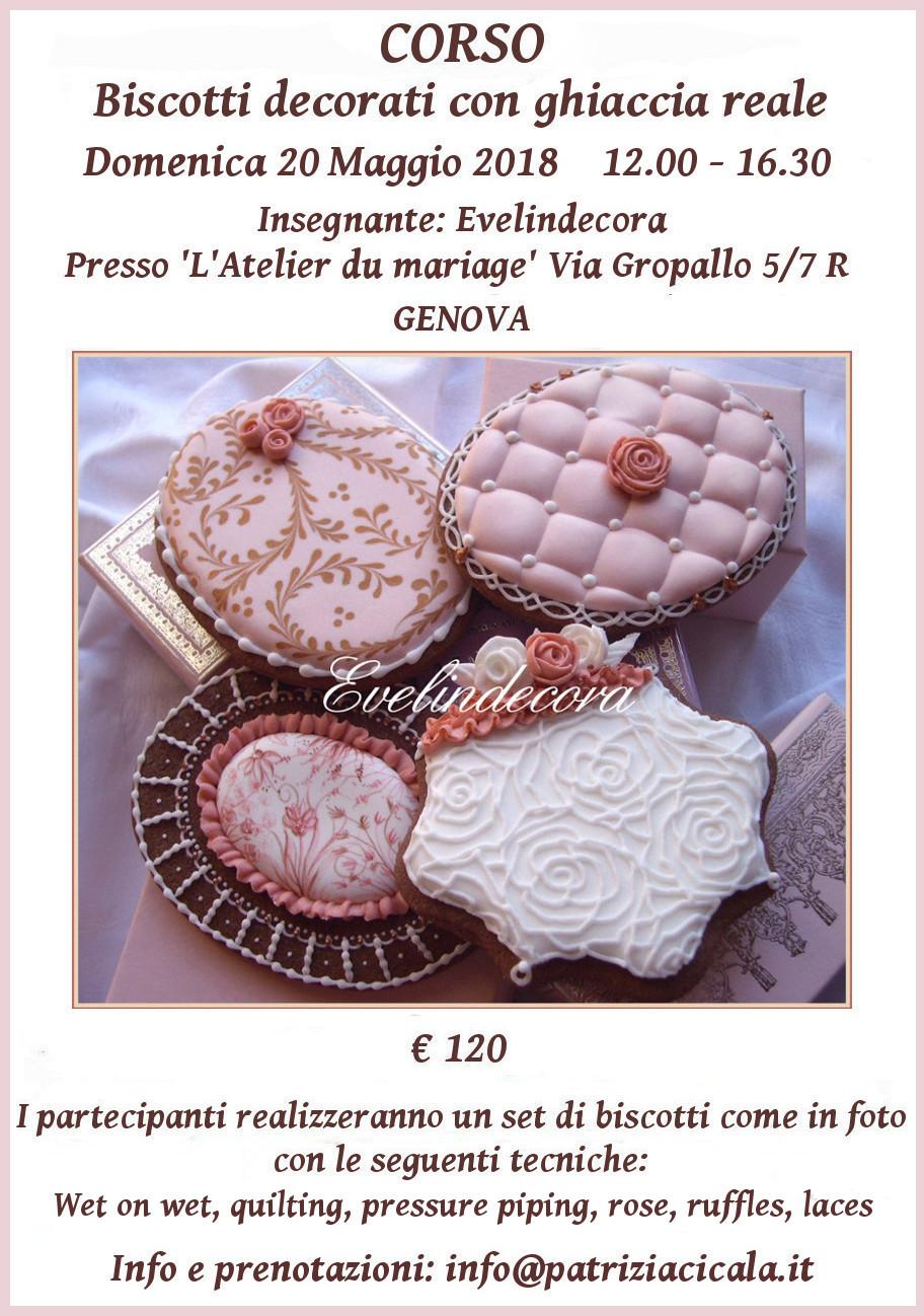 biscotti decorati Genova Evelindecora corso ghiaccia reale