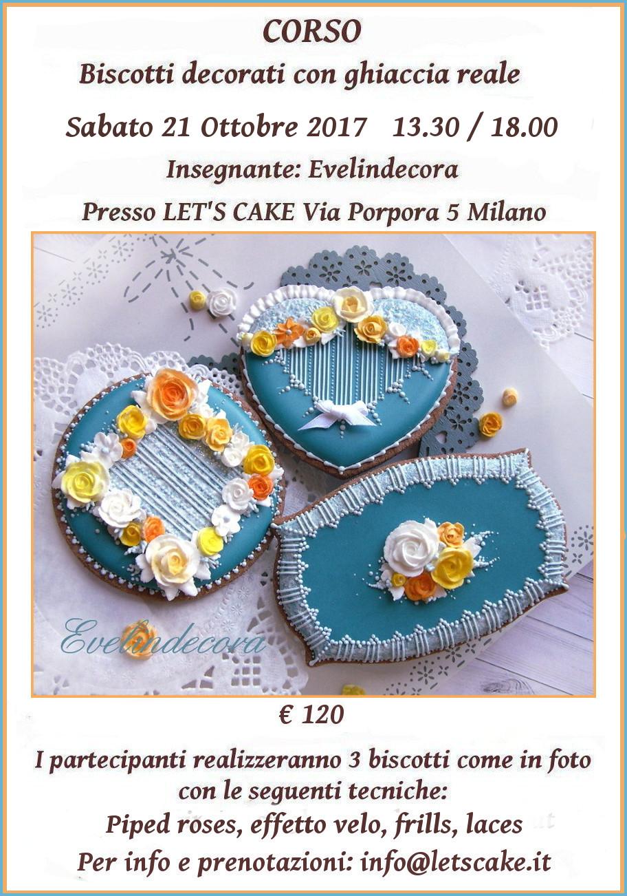 corso ghiaccia reale biscotti decorati a Milano Evelindecora