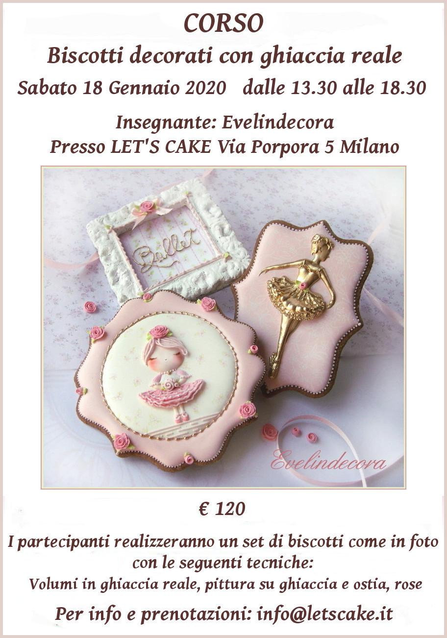 corsi biscotti decorati ghiaccia reale Milano Evelindecora