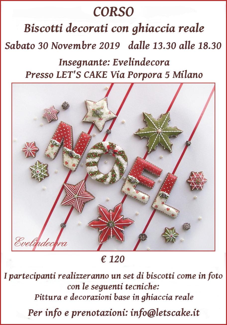 Biscotti decorati natalizi corso Evelindecora