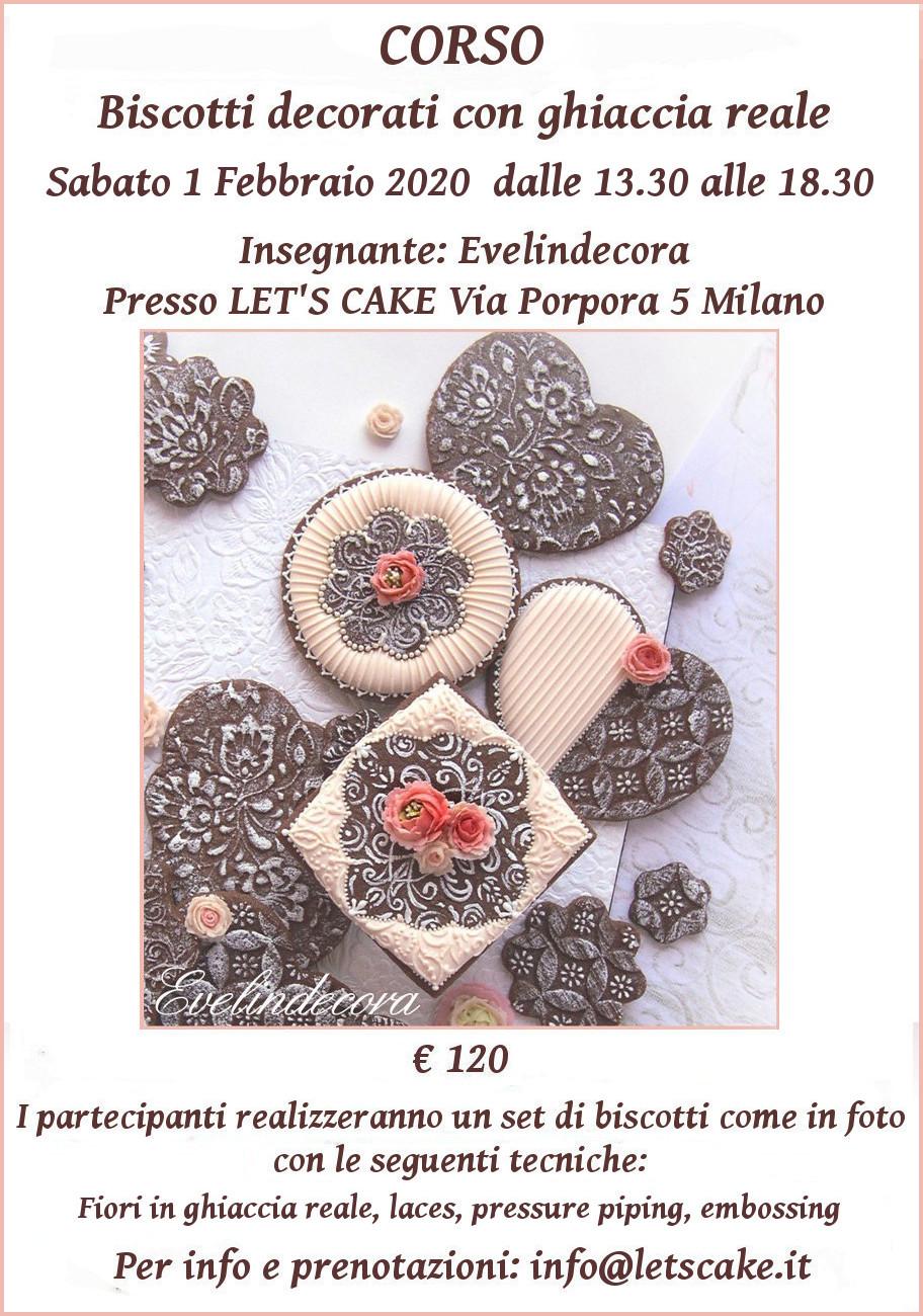 biscotti decorati corsi ghiaccia reale Evelindecora Milano