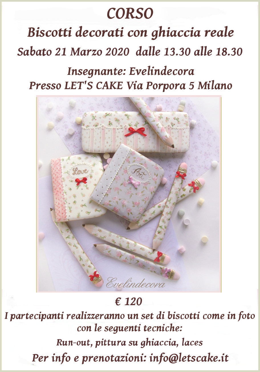 Biscotti decorati corso EVELINDECORA Milano