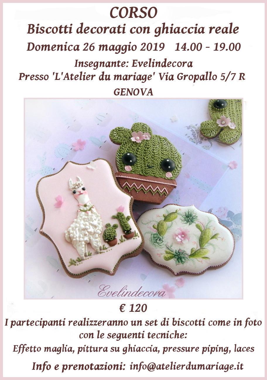 Corso biscotti decorati con ghiaccia reale Evelindecora Genova
