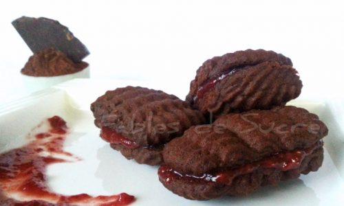 Biscotti al cioccolato e lamponi