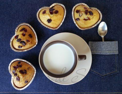 Muffin alla vaniglia e mirtilli