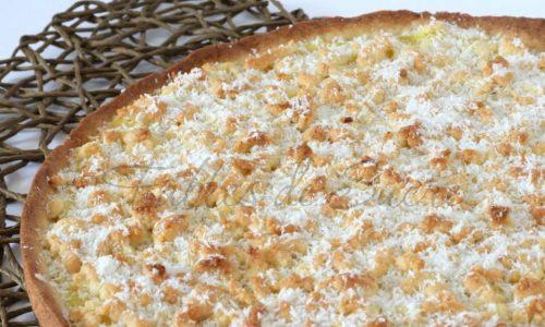 Crostata con frolla e crema al cocco