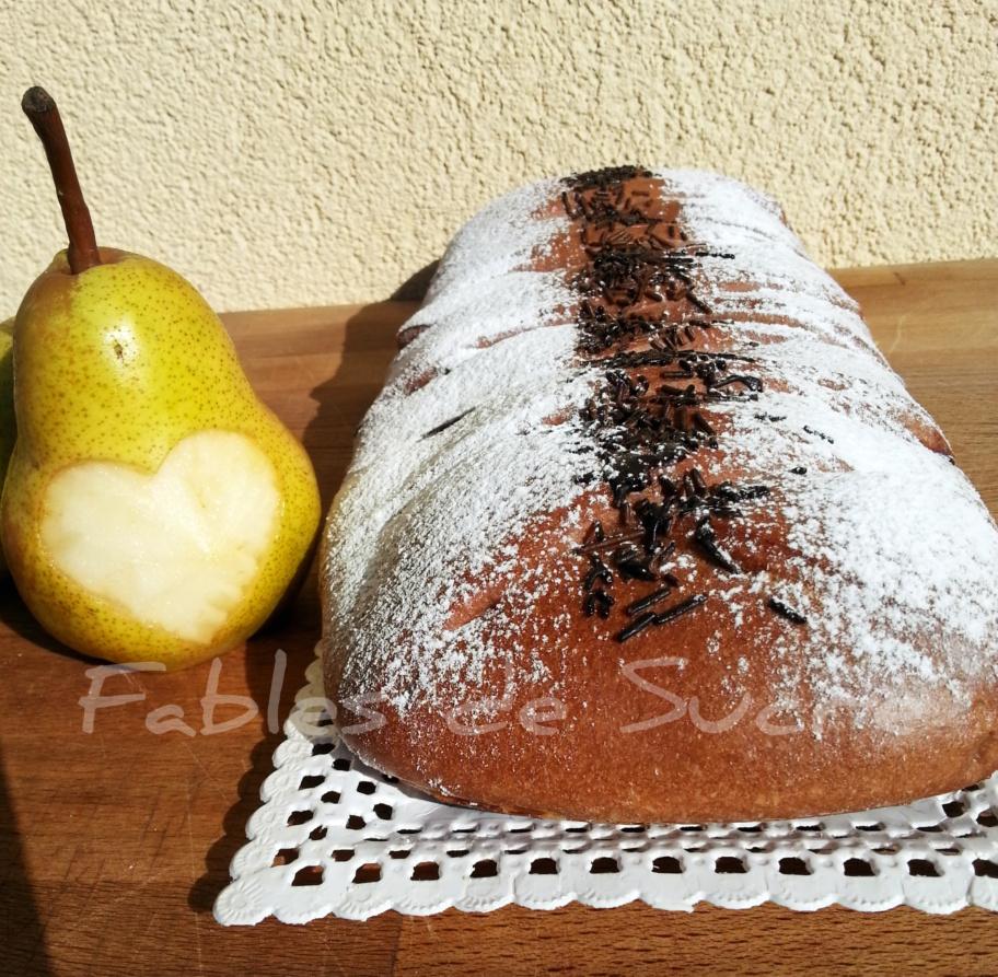 Brioche Cuor di pera al cioccolato