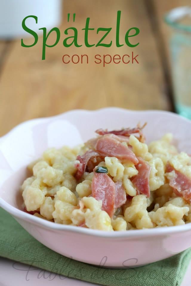 Spatzle con speck ricetta