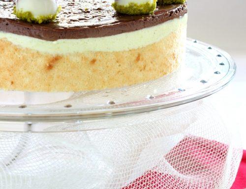 Torta fragole pistacchi e creme brulee