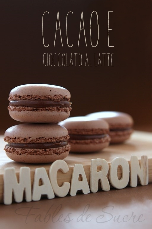 macaron al cacao