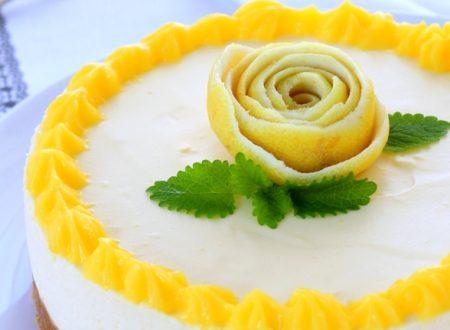 Cheese cake al lemon curd