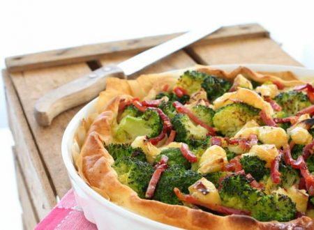 Torta salata broccoli speck e brie