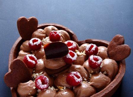 Crostata cioccolato lamponi e mascarpone