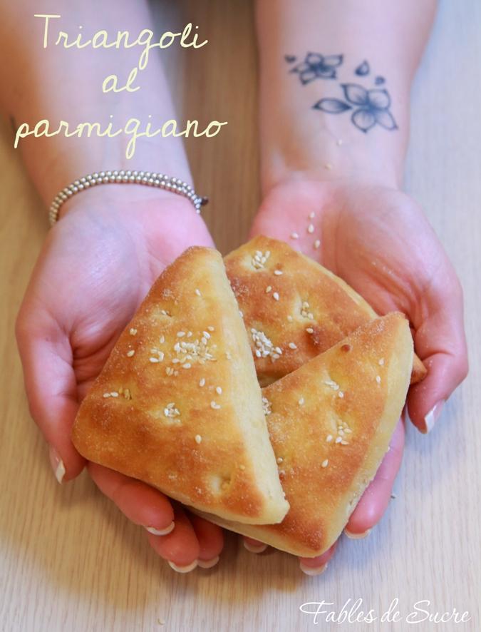 triangoli al parmigiano