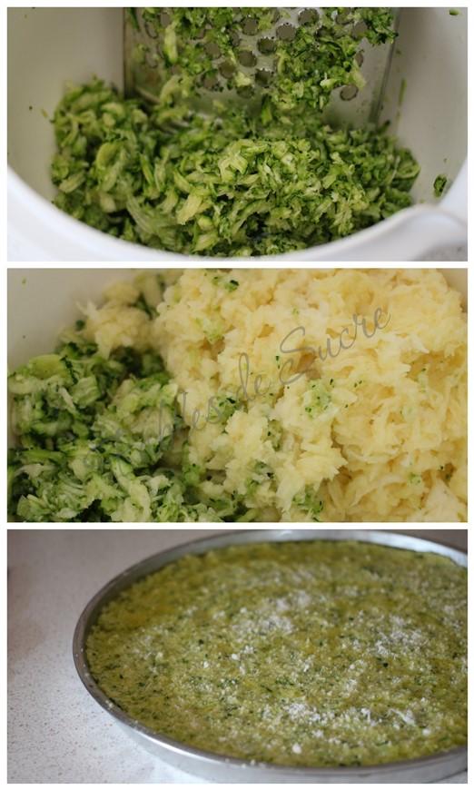 Schiacciata di patate e zucchine