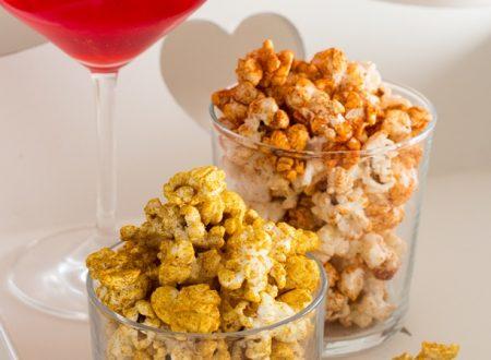 Pop corn aromatizzati curry e paprica