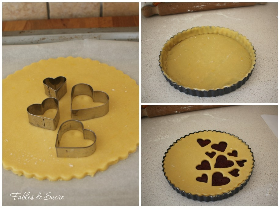 Collage crostata al farro