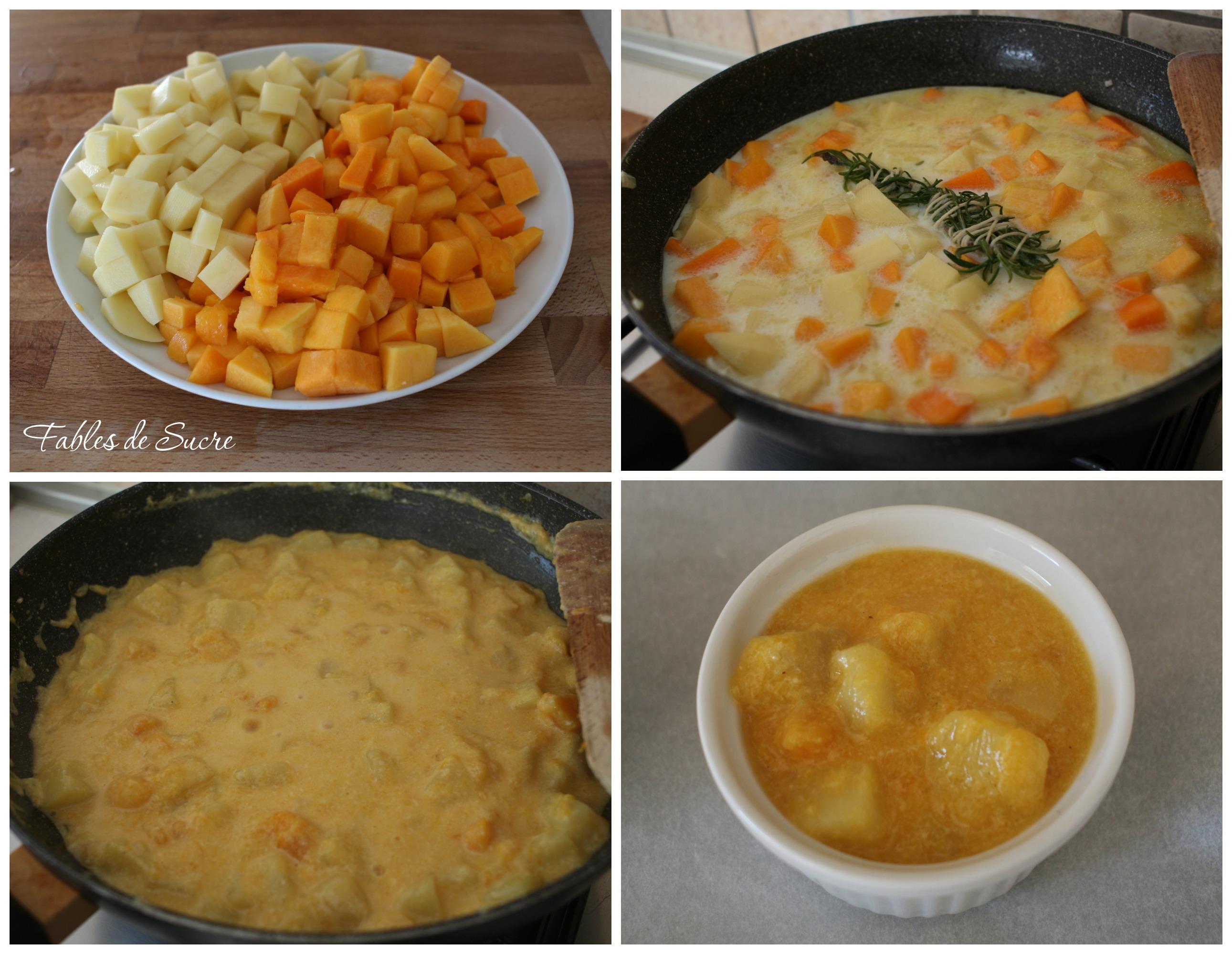 Collage tortino zucca e patate