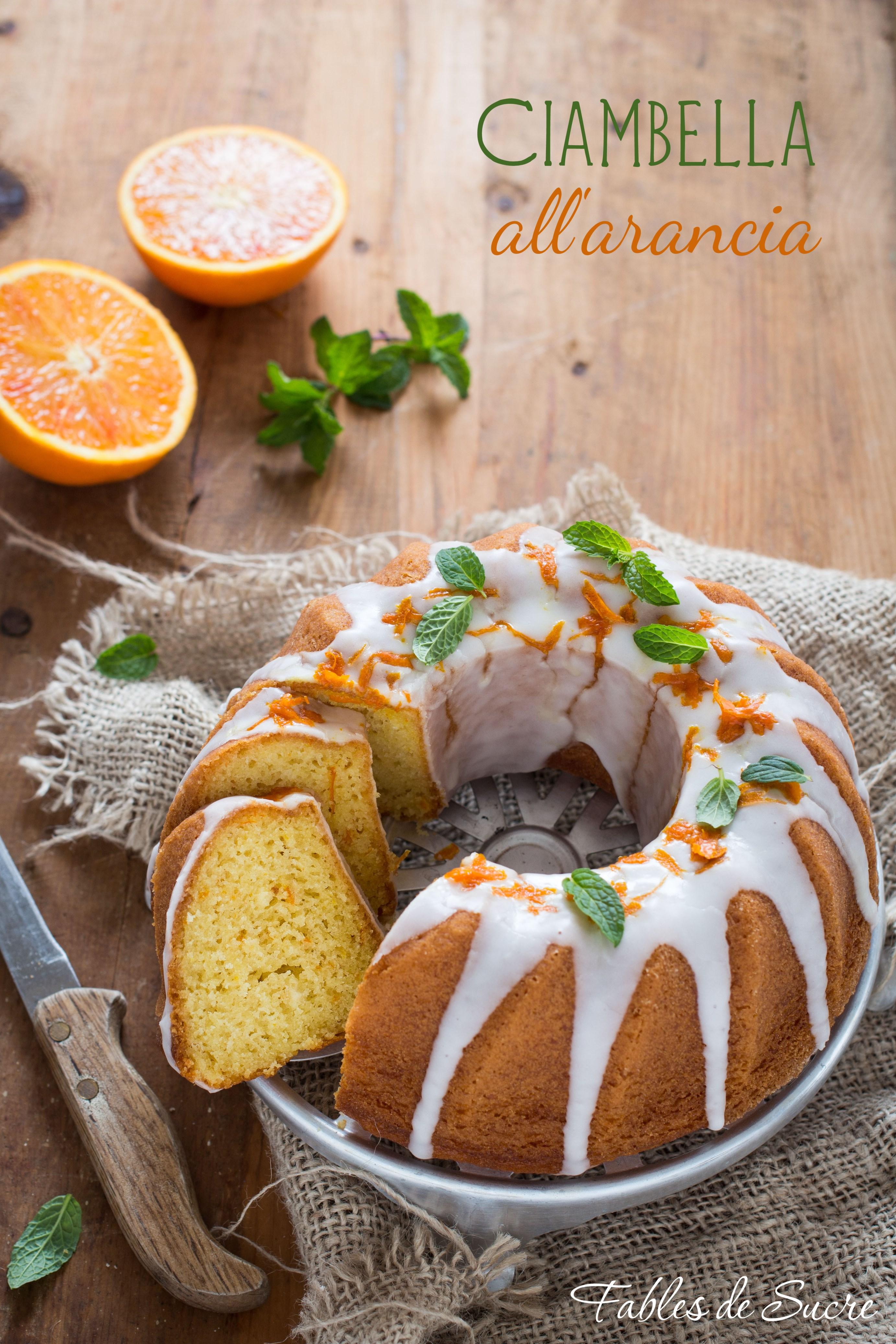 Ciambella soffice all'arancia