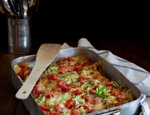 Lasagna di pane carasau con verdure