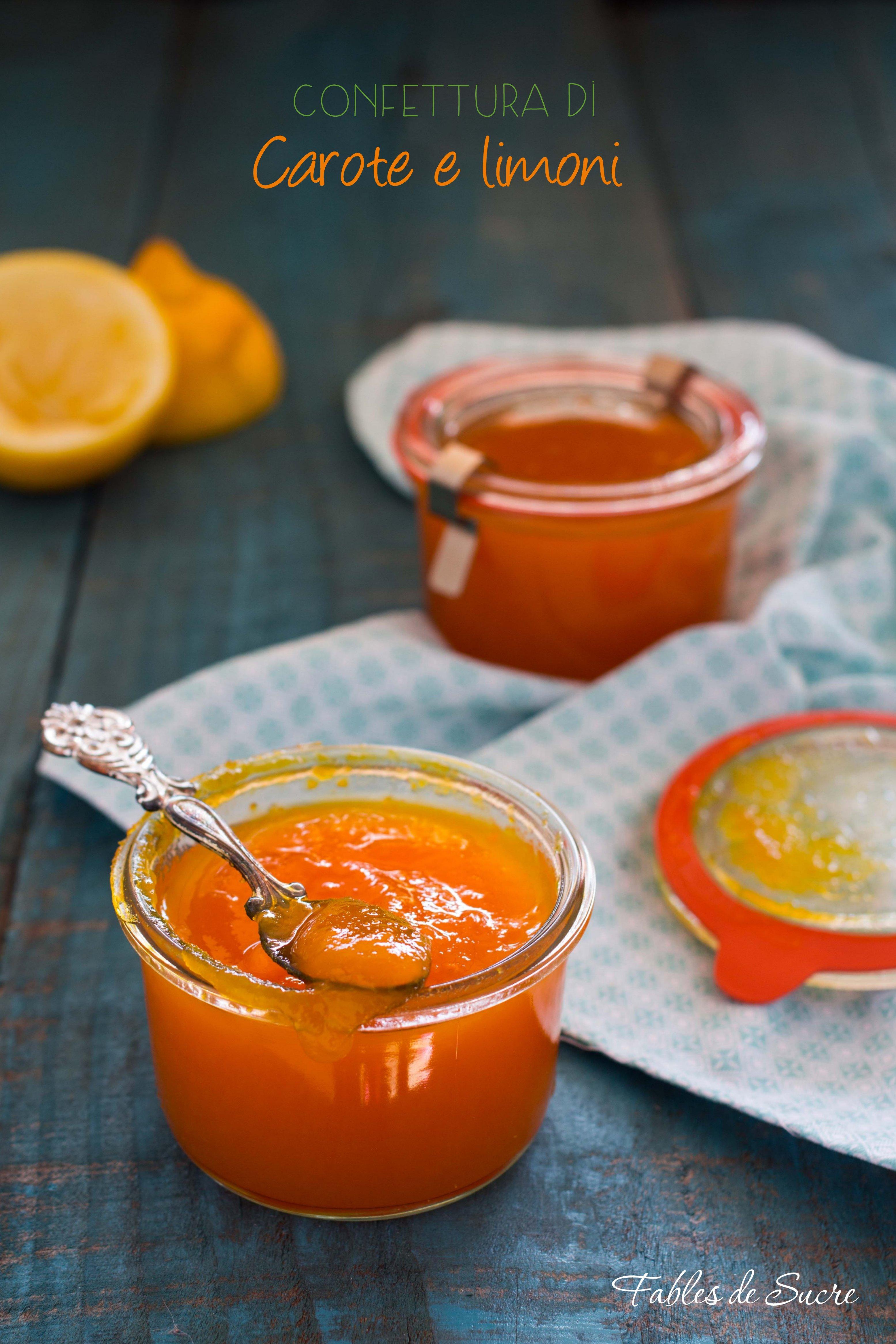 Confettura di carote e limoni