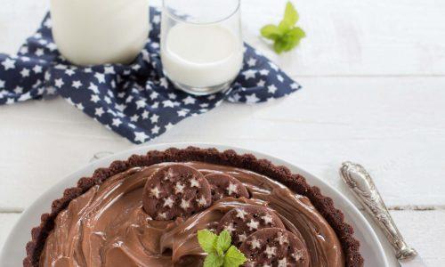 Crostata senza cottura al cioccolato