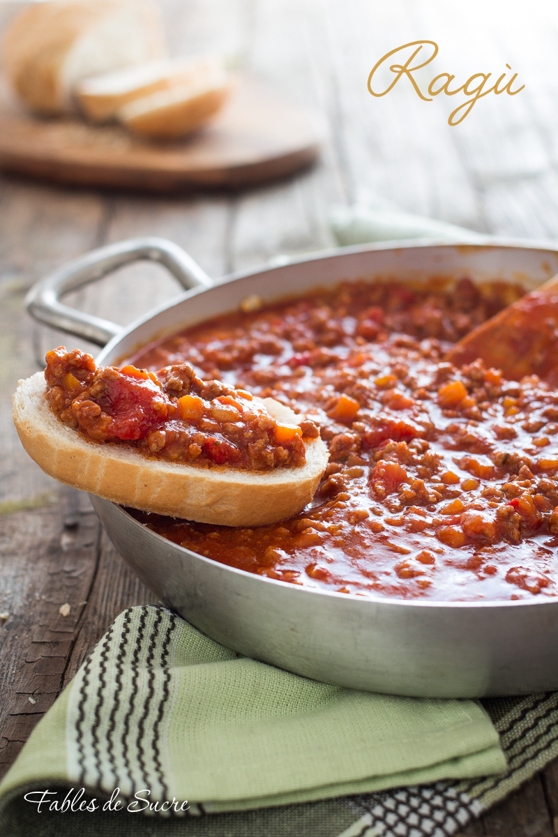 Ricetta Ragu Macinato.Ragu Di Carne Classico Fables De Sucre