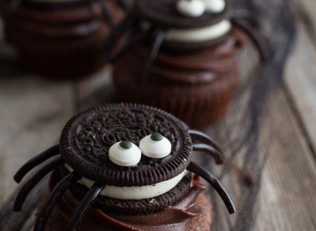 Cupcakes ragnetti per Halloween