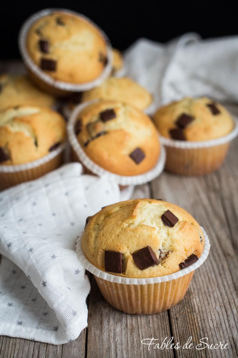 Muffin con gocce di cioccolato