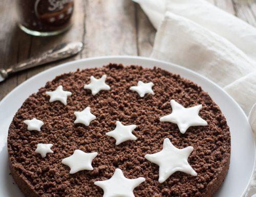 Sbriciolata al cacao con crema pan di stelle