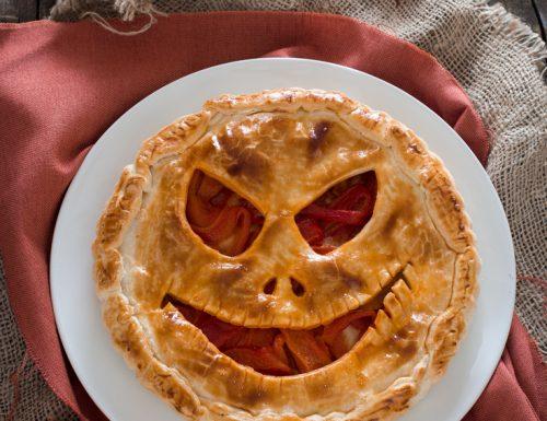 Torta salata di Halloween spaventosa