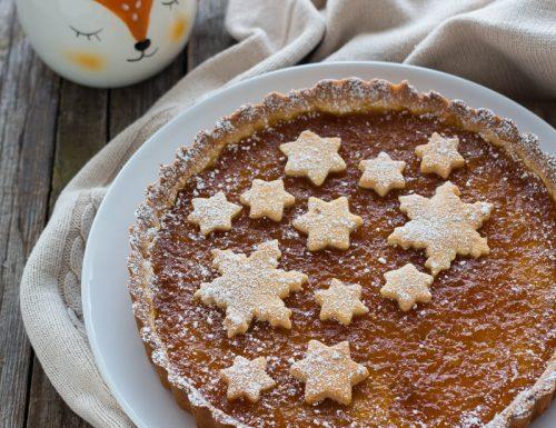 Crostata natalizia con marmellata di arance