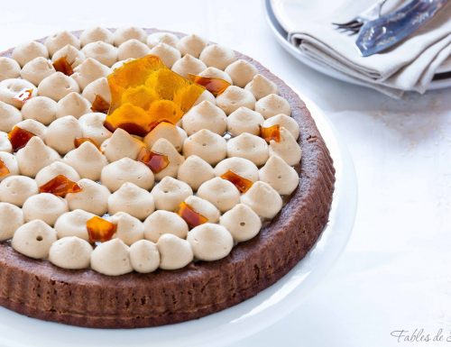 Crostata morbida al caramello e caffè